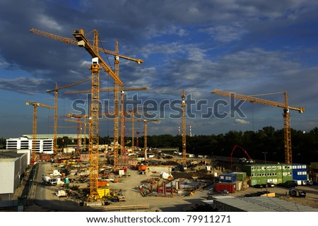 Site under construction - stock photo