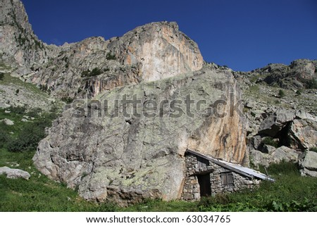 Sites of Madmen and Mirrored, national park of Mercantour, in the department of the maritime Alps, France