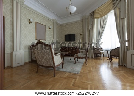 siting furniture in luxury apartment