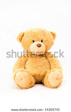 sitting bear toy - stock photo