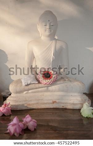 sitting Buddha - stock photo