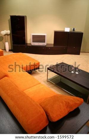 sitting room - stock photo