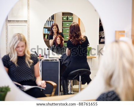 Situation in a Hair Salon - stock photo