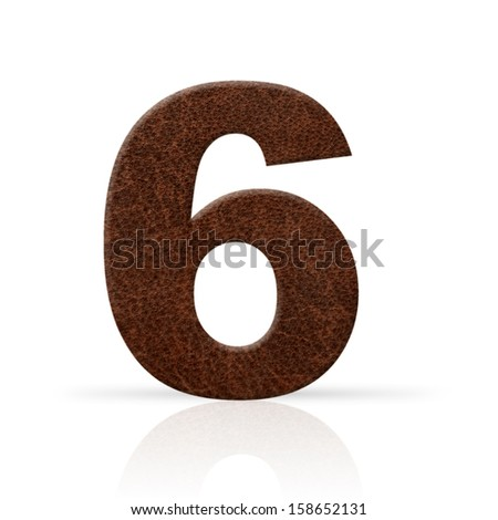 six number leather texture - stock photo