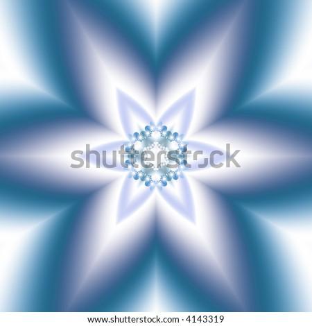 six pointed star mandala - stock photo
