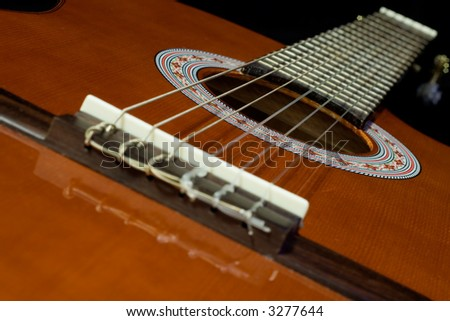 six string guitar sounding board