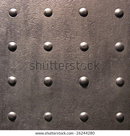 sixteen rivets, historical shipbuilding - stock photo