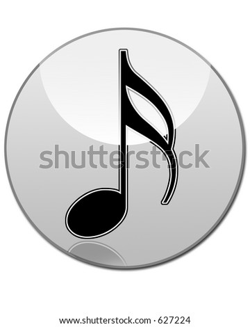 Sixteenth Musical Note Glass Button
