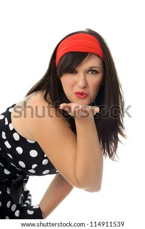 Sixties Girl / Pin Up Girl - stock photo