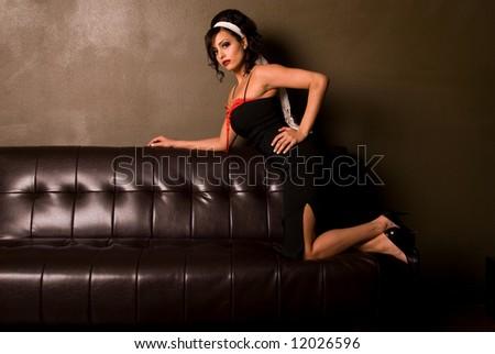 Sixties style woman. - stock photo