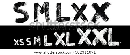 Sizes collection - stock photo