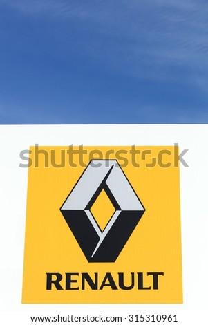 renault logo png. skanderborg denmark september 6 2015 renault logo on a wall png