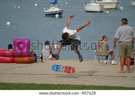 Skate Boarder - stock photo