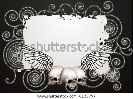 Skate grunge background. An illustration of a vintage skate style grunge background - stock photo