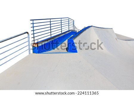 skate park islated on white background - stock photo