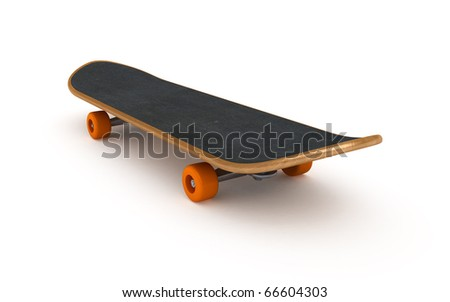 skateboard (clipping path) - stock photo