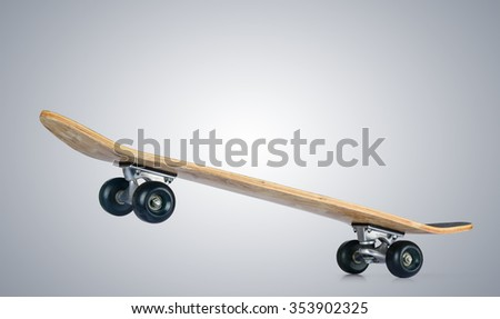 Skateboard deck. File contains a path to isolation. - stock photo