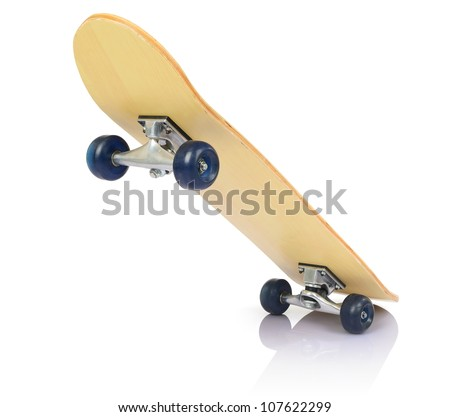 Skateboard deck on white background