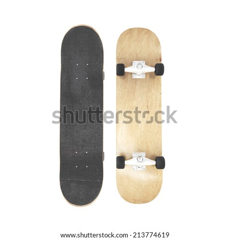 Skateboard isolated - stock photo