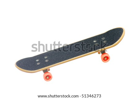 skateboard isolated on the white background - stock photo