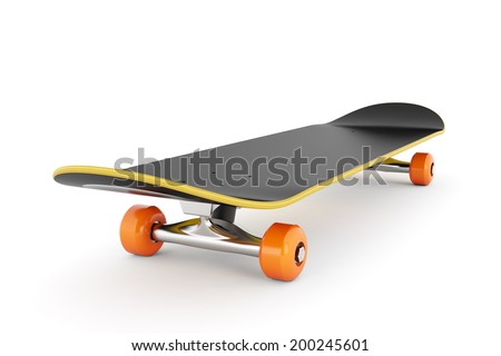 Skateboard isolated on white background  - stock photo