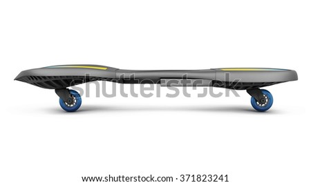 Skateboard isolated on white background. 3d render image.