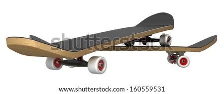 skateboard. isolated. white background. 3d