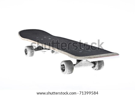 skateboard isolated with a clipping path