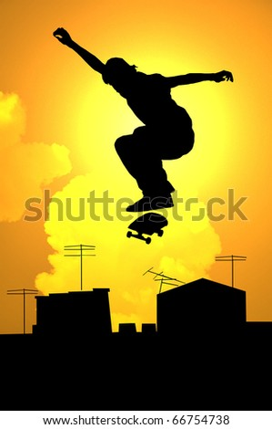 Skateboarding - stock photo