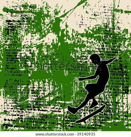 Skateboy Grunge Background - stock photo