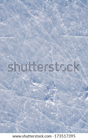 Skated on ice surface - stock photo