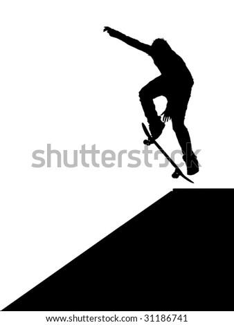 Skater jump. Element of design. - stock photo