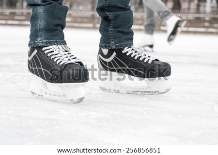 Skater on skating rink - stock photo