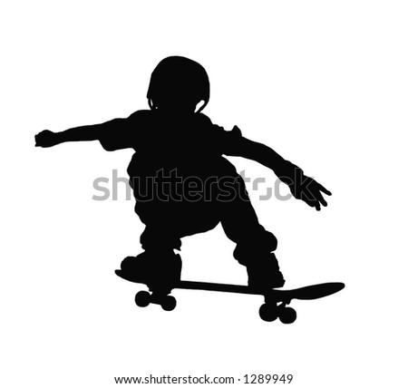 Skater silhouette - stock photo