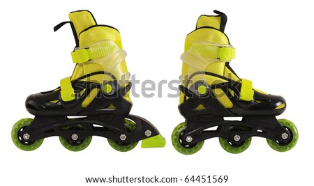 Skating roller. Isolated - stock photo