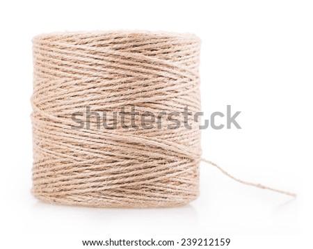 skein of thread Isolated on white background - stock photo