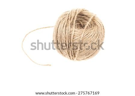skein on white - stock photo