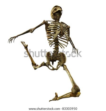 Skeleton ballet jump - stock photo