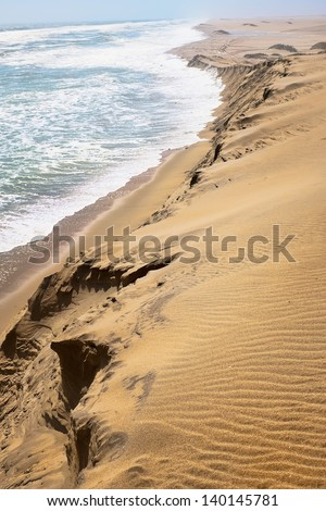 Skeleton coast landscape in Namibia - stock photo