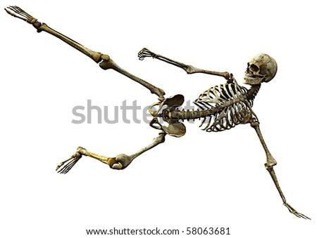 skeleton football - stock photo