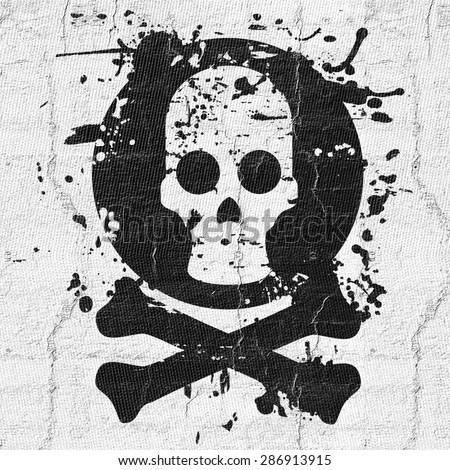 Skeleton head - stock photo