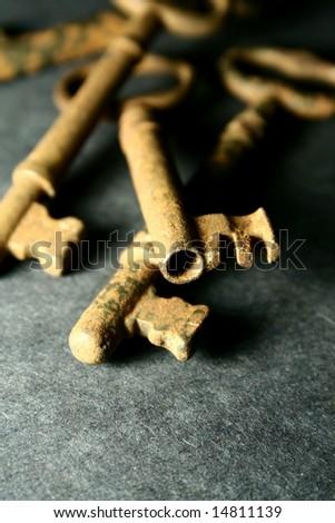 skeleton keys - stock photo