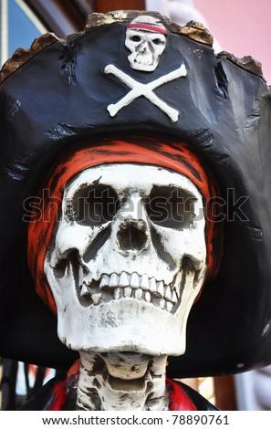 Skeleton Pirate - stock photo