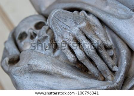 skeleton sculpture - stock photo