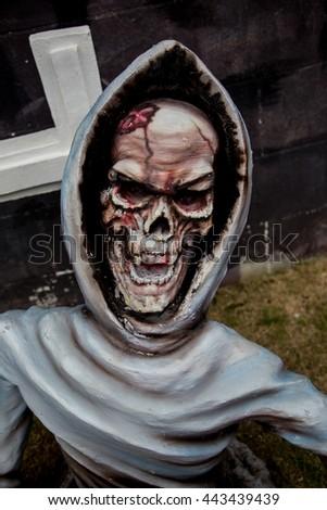 Skeleton statue - stock photo