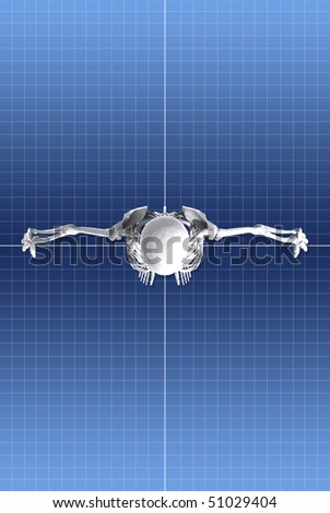 Skeleton Structure Top - stock photo