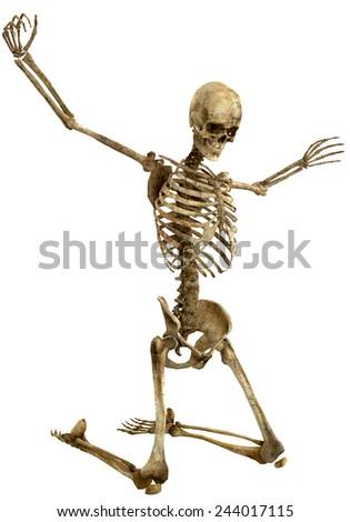 skeleton the prayer - stock photo