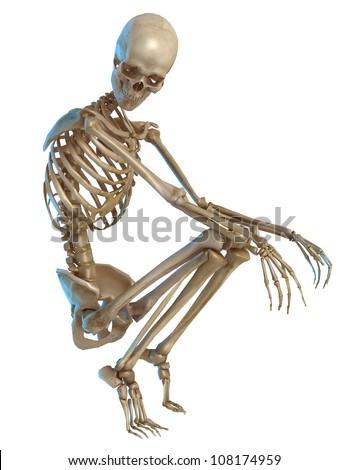 skeleton thinking - stock photo