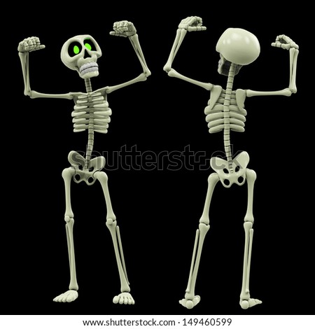 skeleton victory is ours - stock photo