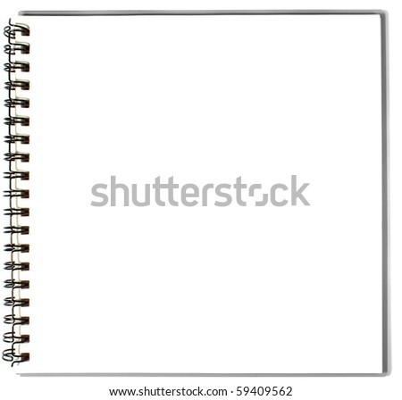 sketch book - stock photo